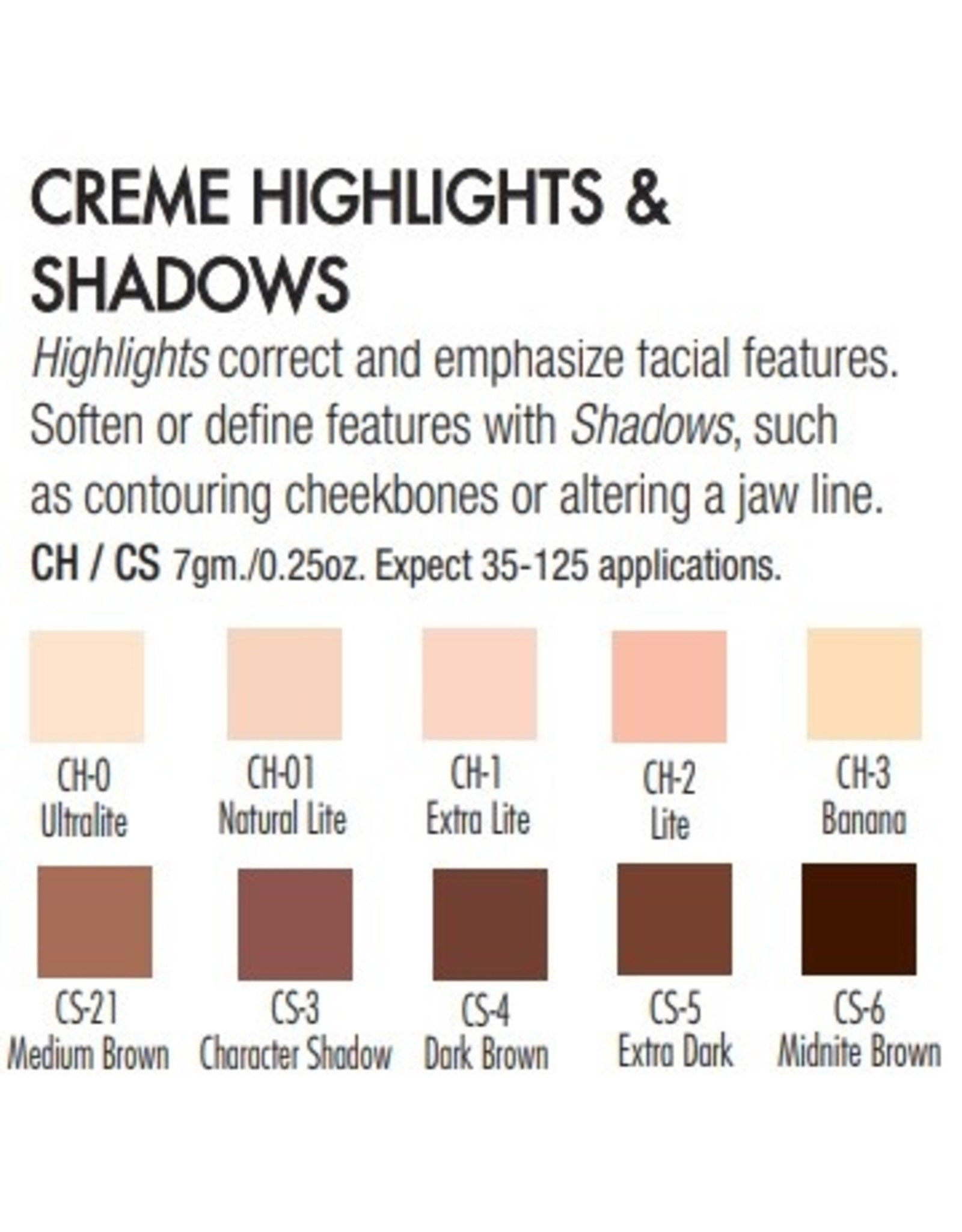 Ben Nye Ben Nye Creme Highlights