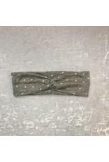 Maple & Moon Grey Polkadot Headband