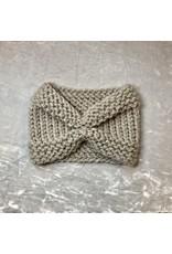 Studio Bella Grey Hand-Knit Ear Warmer