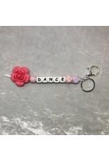 Bella Pacifier Clips Dance Key Chain