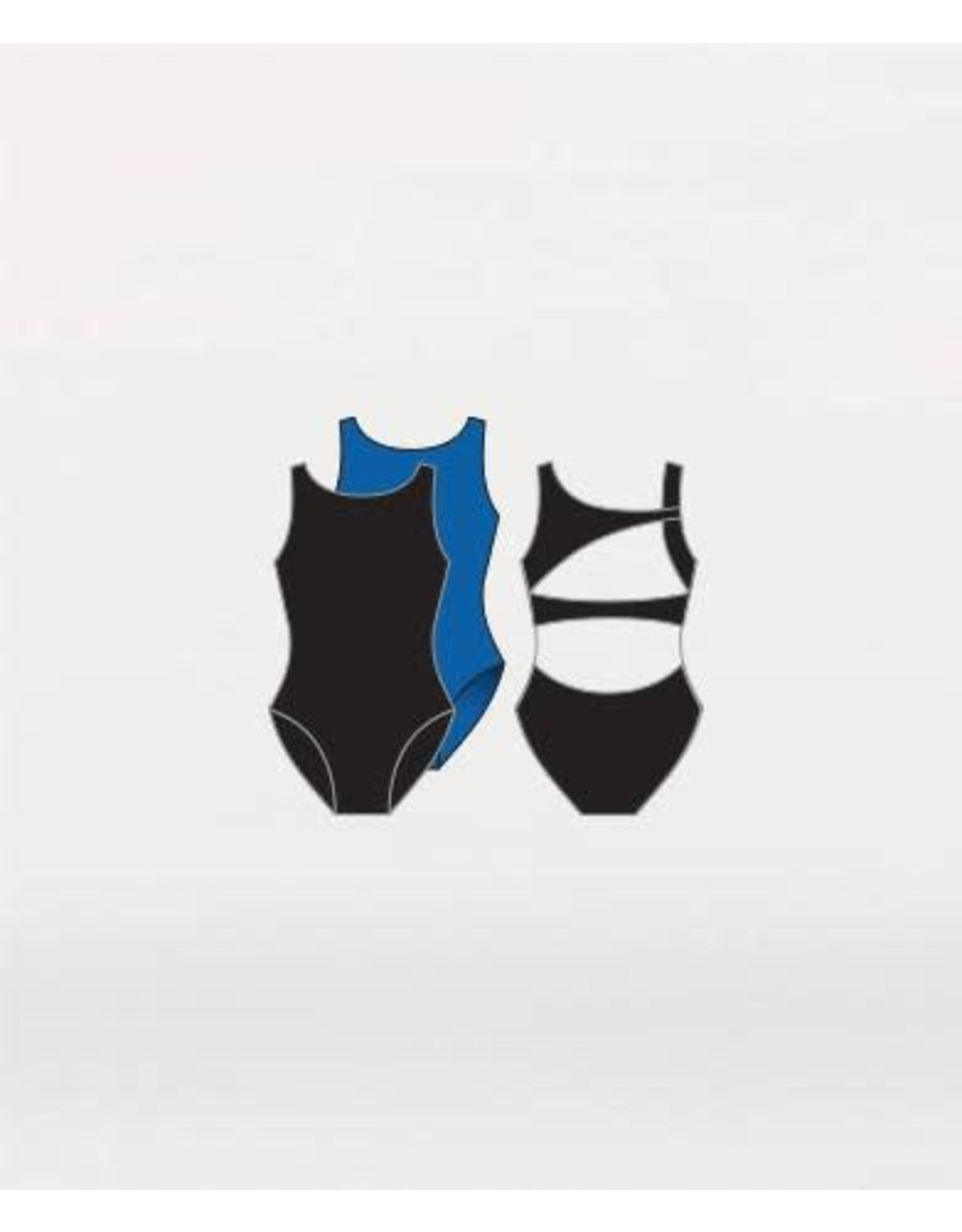 Body Wrappers Asymmetrical Back Leotard