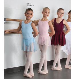 Body Wrappers Pull-On Children's Dance Skirt - Light Blue