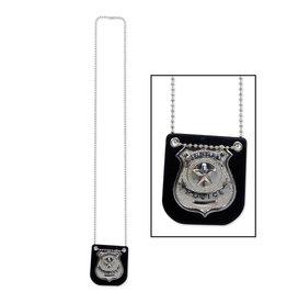 Beistle Metal Police Badge