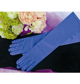 fH2 Long Satin Gloves Royal Blue
