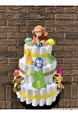 Diaper Cakes by Leah Monkey Diaper Cake