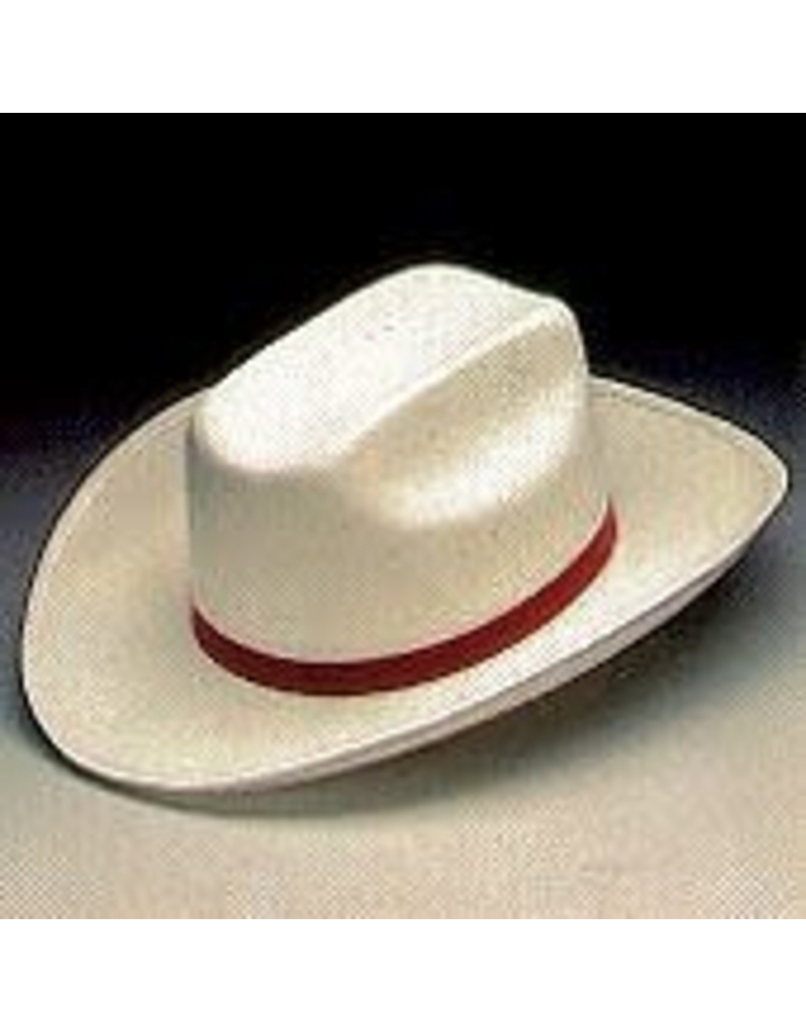 SKS Novelty White Cowboy Hat with Red Band