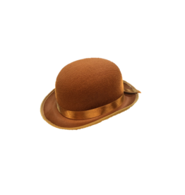 HM Smallwares Brown Deluxe Derby Hat
