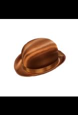 HM Smallwares Brown Satin Derby Hat