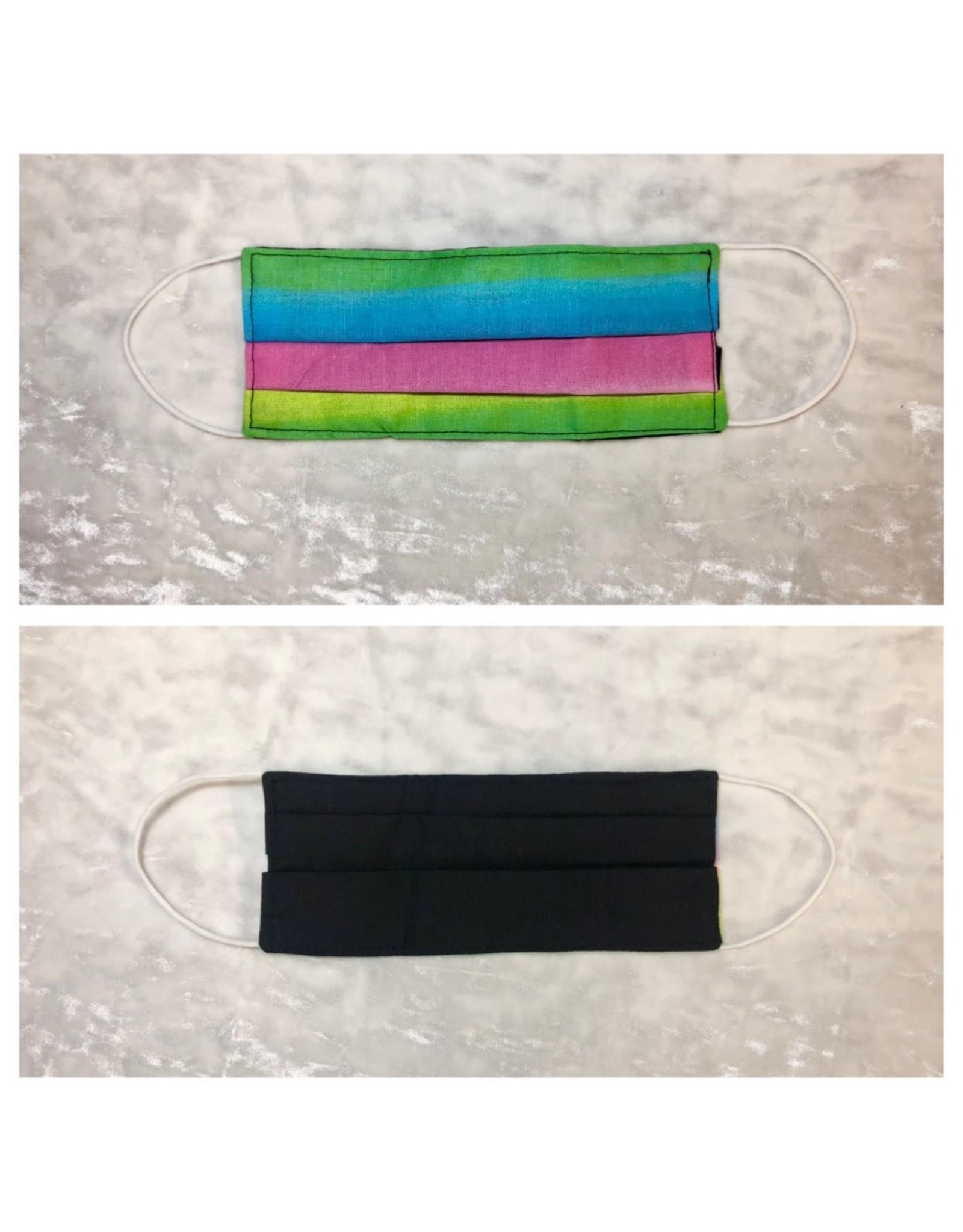 Karries Kostumes Med Fabric Face Mask - Rainbow + Black
