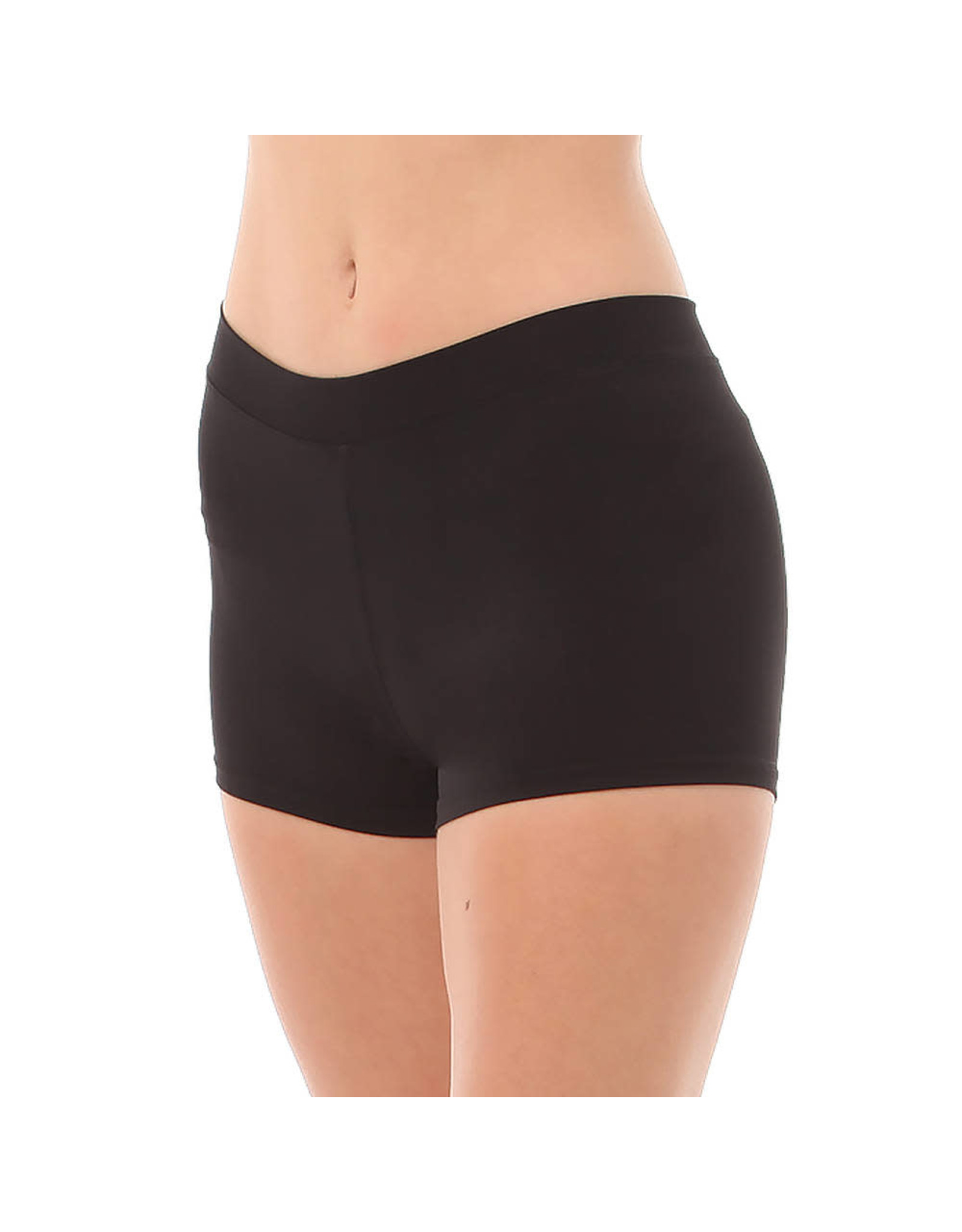 Body Wrappers Black Boy-Cut Shorts