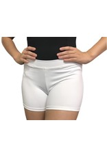 Body Wrappers White Boy-Cut Shorts