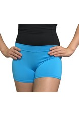 Body Wrappers Turquoise Boy-Cut Shorts