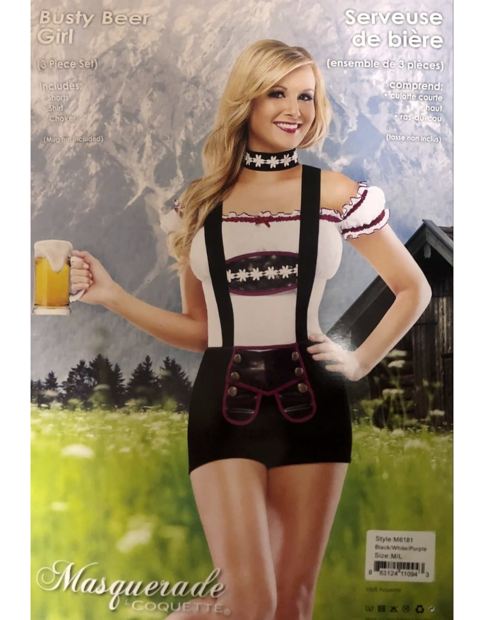 Coquette Busty Beer Girl