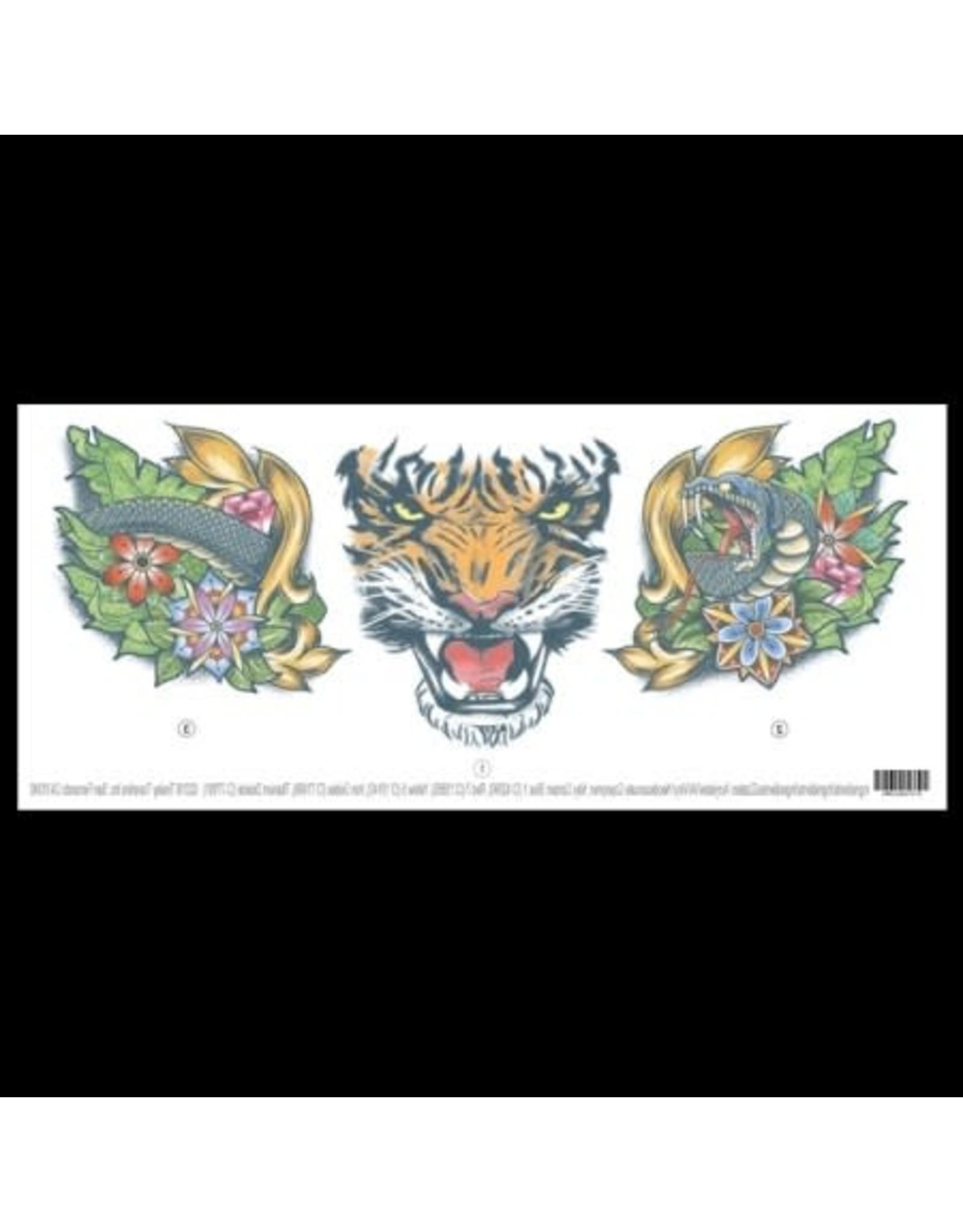 Tinsley Transfers Tiger Neck Tattoo