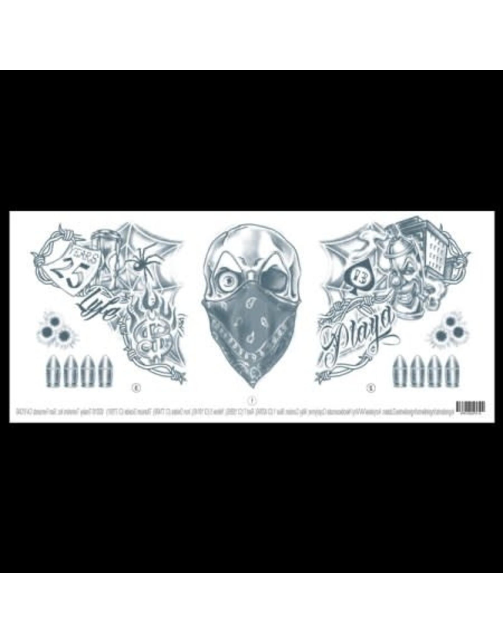 Tinsley Transfers Vandal Neck Tattoo