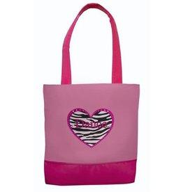 Sassi Designs Zebra Heart Dance Tote