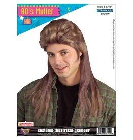 Forum Novelties Inc. Long Brown Mullet Wig