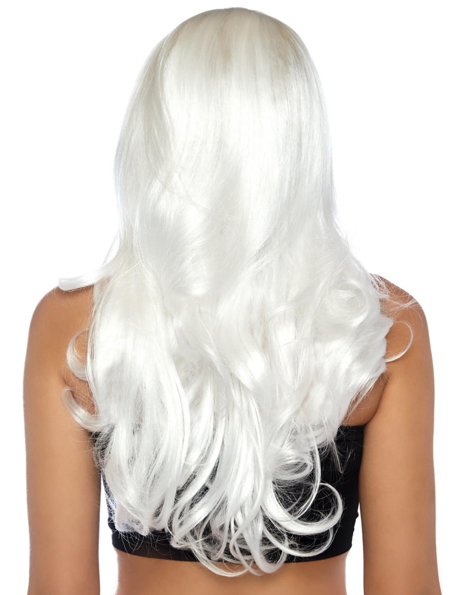 Leg Avenue Long Wavy Wig - White