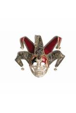 Forum Novelties Inc. Crackle Skull Jester Mask
