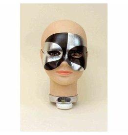 Forum Novelties Inc. Black Silver Half Mask