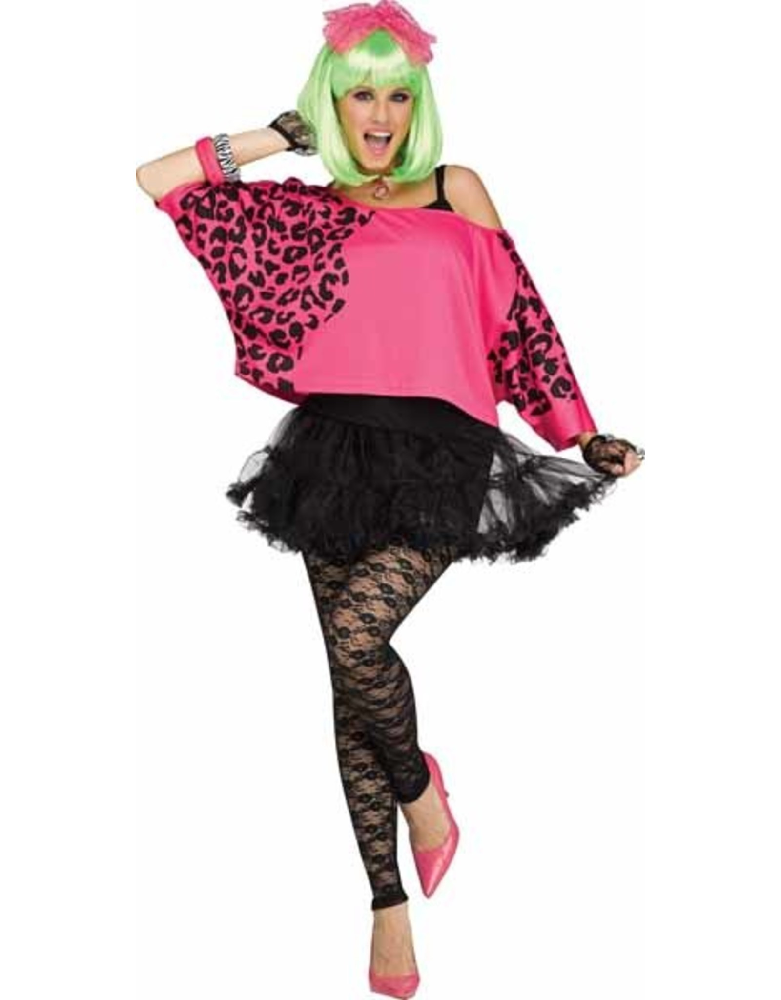 Fun World Rockin' 80's Pink Crop Top