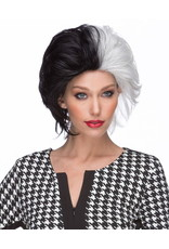 Westbay Wigs Wicked Black and White Wig