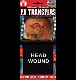 Tinsley Transfers Head Wound 3D Tattoo