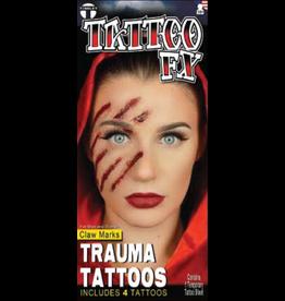 Tinsley Transfers Claw Mark Trauma Tattoo