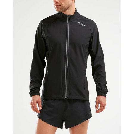 2XU XVENT Run Jacket Mens - BLK/BLK