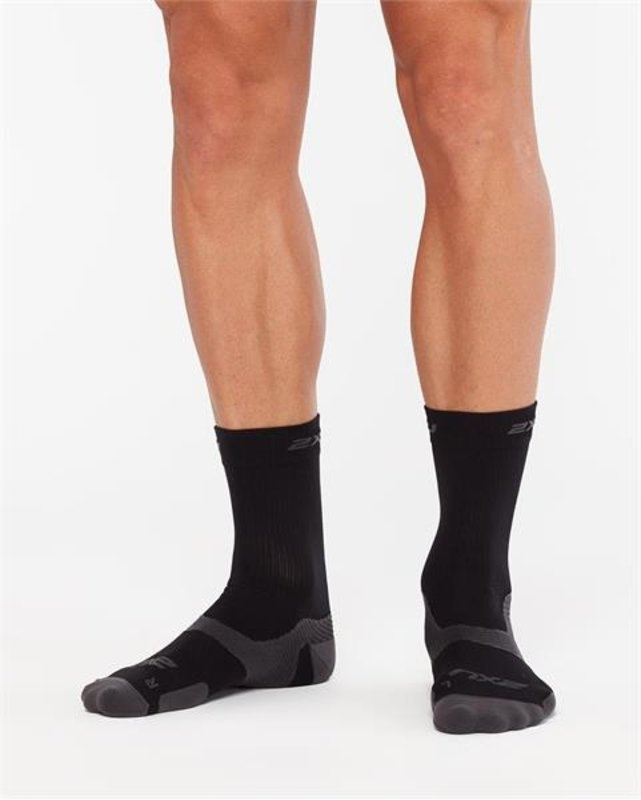 2XU Vectr Cushion Crew Socks - BLK/TTM