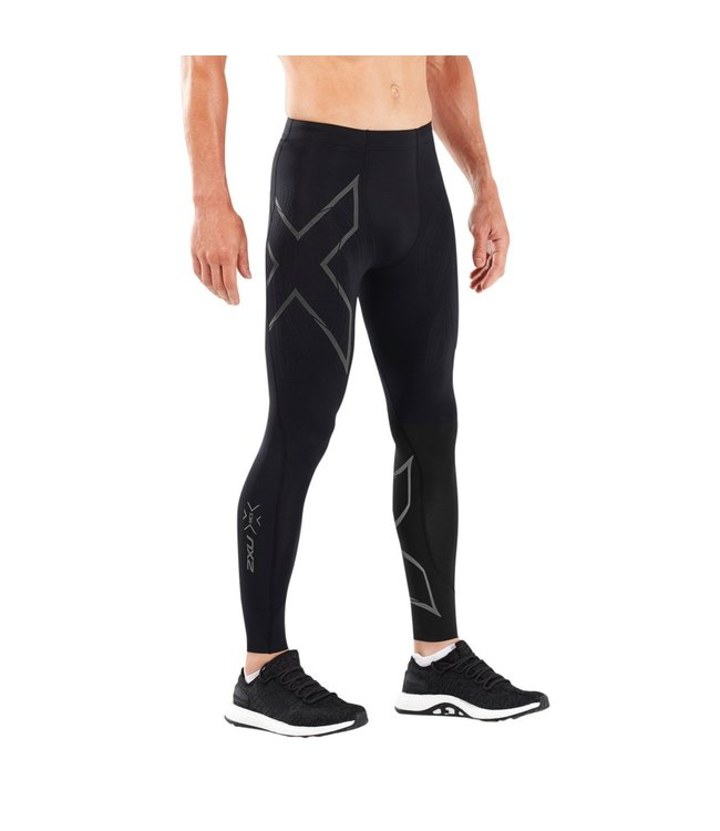 2XU Run Compression Tights Mens - BLK/BRF