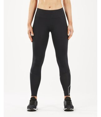 2XU Run Mid Rise Comp Tights Women - BLK/BRF