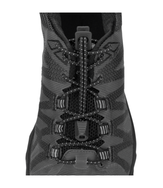 Nathan Elastic Run Laces: One Size Fits All, Black