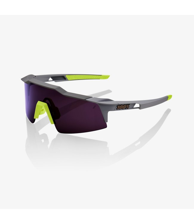 100% Speedcraft SL - Soft Tact Midnight Mauve Purple Lens