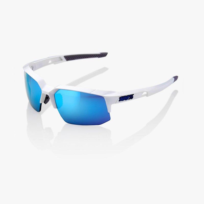 100% SPEEDCOUPE MATTE WHITE W/ HIPER ICEBERG BLUE MIRROR LENS