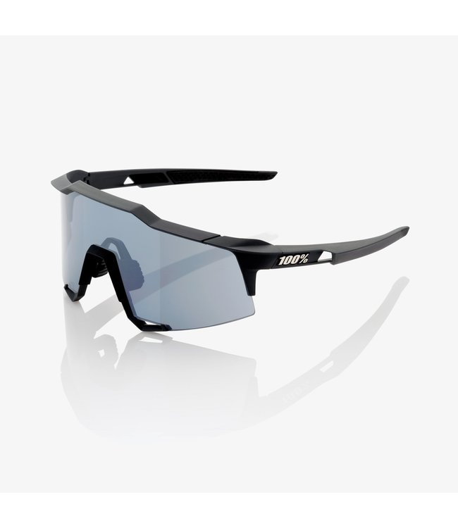 100% SpeedCraft Tall Sunglasses, Soft Tact Black frame - Smoke Lens