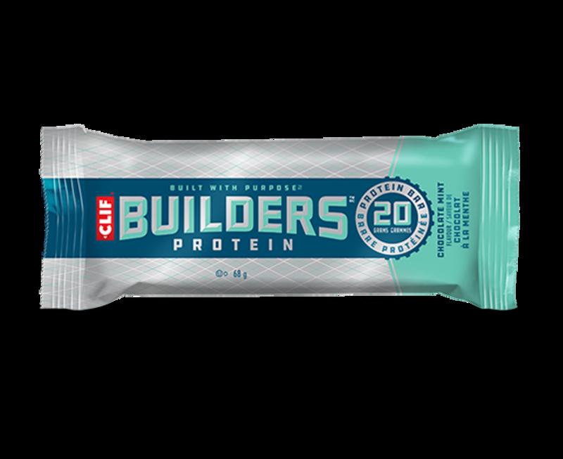 Clif Clif, Builder, Bar, Chocolate Mint, 12x68g