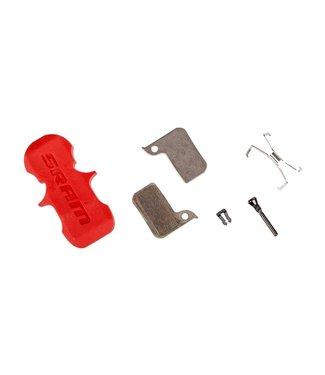 SRAM SRAM, Level TLM, Level Ultimate, HRD, Disc Brake Pads, Shape: SRAM HRD/Level TLM, Organic, Pai, Steel plate