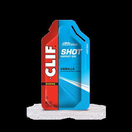 Clif Clif, Shot Energy Gels, Vanilla, 24pcs single