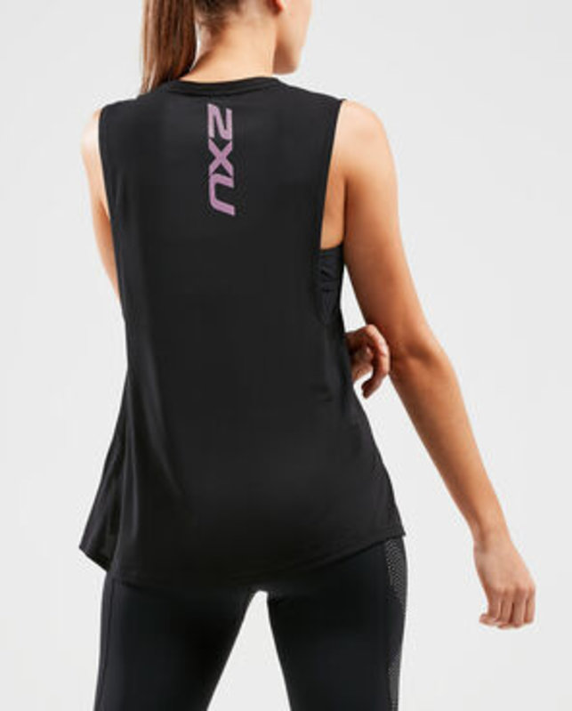 2XU XVENT G2 Mesh Tank Black/Multi Colour Reflective