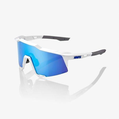 Speedcraft - Matte White - HiPER Blue Multilayer Mirror Lens