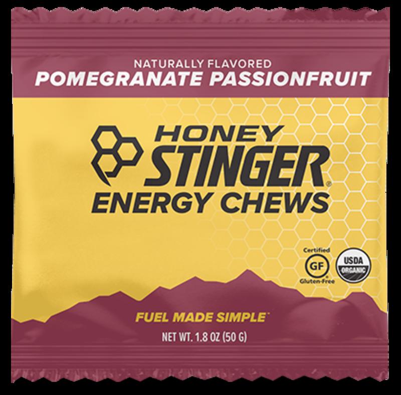 Honey Stinger Honey Stinger Organic Energy Chews Pomegranate, Box of 12 single