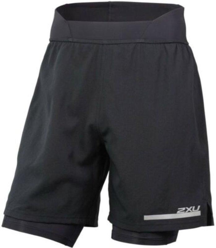 2XU Run 2 in 1 Comp 7 Shorts - BLK/SIL