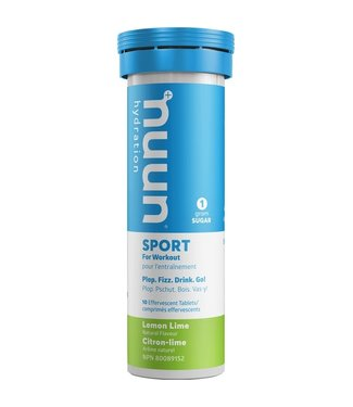 Nuun Nuun, Sport, Tablets, 8 tubes, Lemon Lime single