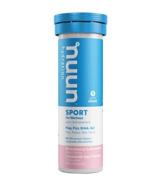 Nuun Nuun, Sport,Tablets, 8 tubes, Strawberry Lemonade