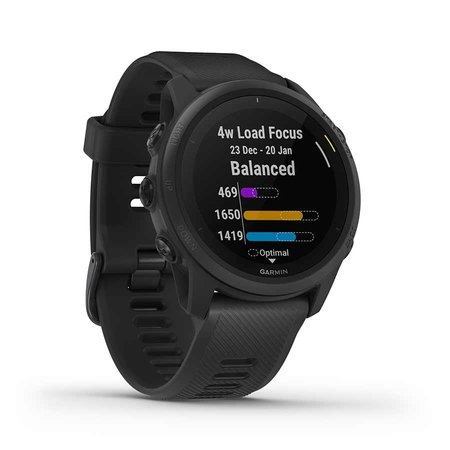 Garmin Garmin, Forerunner 745, Watch, Watch Color: Black/ Blue, Wristband: Black - Silicone, 010-02445-00