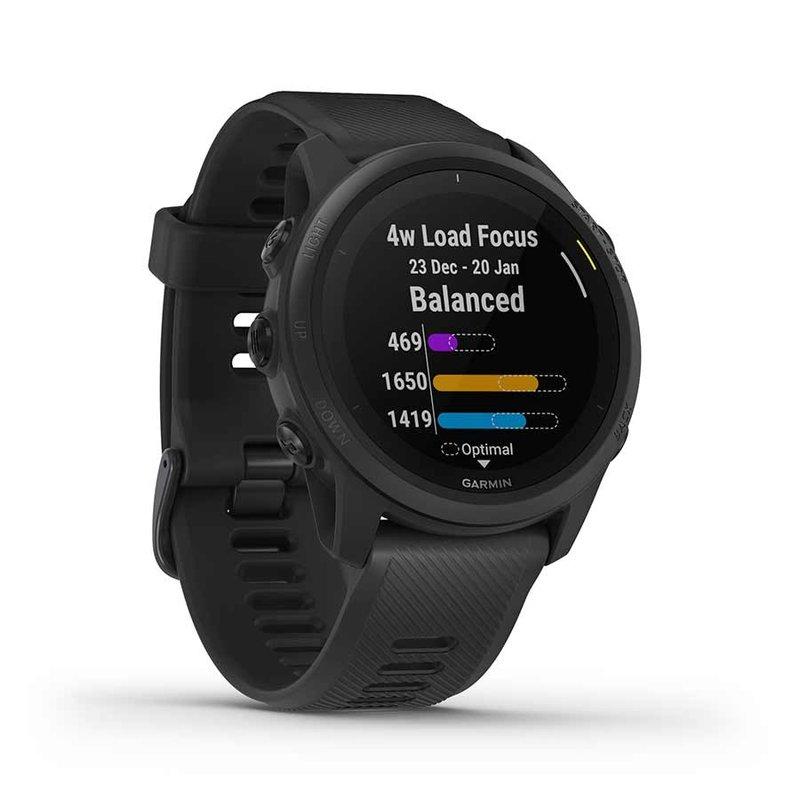 Garmin Garmin, Forerunner 745, Watch, Watch Color: Black/ Blue, Wristband: Black - Silicone, 010-02445-00
