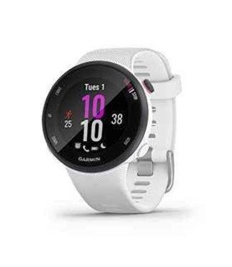 Garmin Garmin, Forerunner 45 Small, Watch, Watch Color: White, Wristband: White - Silicone, 010-02156-00