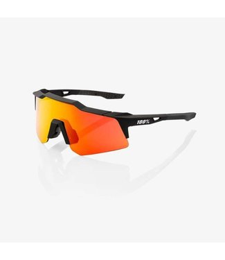 100% Speedcraft XS - Soft Tact Black - HiPer Red ML Mirror Lens