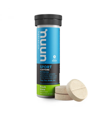 Nuun Nuun, Sport with Caffeine, Drink Mix, Fresh Lime, Box of 8, 10 servings single